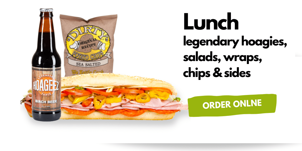 Lunch, Legendary Hoagies, salads and wraps, Hoageez-hoagie,sub
